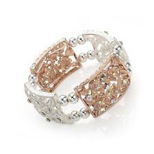 Crystal Silver Plated Statement Costume Bracelets