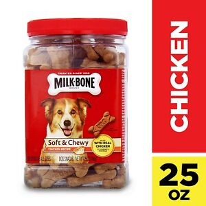 Milk-Bone Soft & Chewy Chicken Recipe Dog Snacks, 25-Ounce