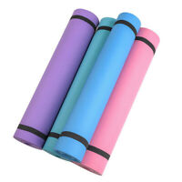 4mm Pilates Yoga Mat Fitness Exercise Carpet Pads Non Slip For Beginner