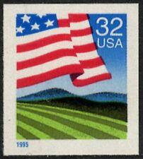 USA Sc. 2919 32c Flag over Field 1995 MNH bklt. single