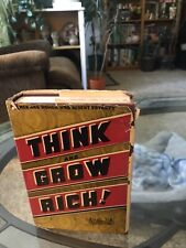 1942  Edition Think and Grow Rich by Napoleon Hill and dust jacket
