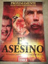 CUBAN POLITICAL POSTER EL ASESINO POSADA & GEORGE BUSH ASSASSINS PROXIMAMENTE