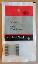 NEW! RadioShack 8 Amp 250 Volt Fast-Acting Fuses 2701014 *FREE SHIPPING*