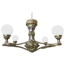 Fabulous Beaux Arts Four Arm Globe Light Chandelier Pendant