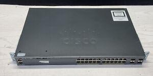 Cisco Catalyst 2960-X Series 24-Port Switch WS-C2960X-24TD-L 10G uplink