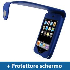 Blu Eco Pelle Custodia per Apple iPod Touch 2G 3G Gen Case Cover Protezione