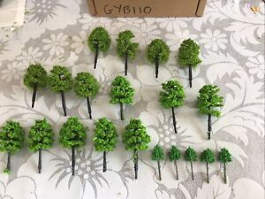 Z Scale   Set Of 20 Trees ,  3 Styles Forest , Foliage, Scenery. GYB110