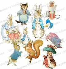 Vintage Image Nursery Retro Peter Rabbit And Friends Waterslide Decals AN806