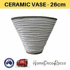 Ceramic White Floor Standing Pot Home Decor Vase Floral Decorative Ornament