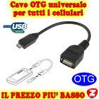 CAVO OTG CABLE USB A MICRO USB FEMMINA FOR SAM GALAXY S2 S3 i9300 TABLET ANDROIg