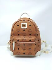 MCM Backpack Visetos Mini Cognac/Off White authentic $725
