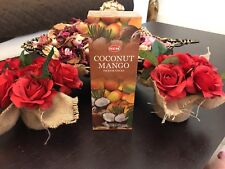 Coconut mango hem Incense Sticks 120 pcs Made in India Hand crafted rolled