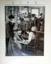Old Country Store 2 Ladies With Ouija Board Life Reprint Early 1900s Psychic