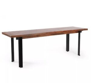 Christopher Knight home Pisgah Handcrafted Industrial Mango Wood Dining Bench