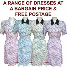 Floral Dress Older Women. Vintage Style Dresses Elderly Ladies Sizes 12 - 26 New