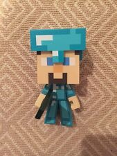 "Minecraft 6"" Diamond Steve Figure Diamond Edition - EUC"