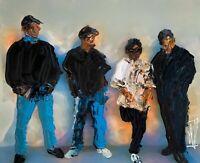 ORIGINAL Abstract NWA 80s Dre Easy e Gansta Rap Hip Hop Ice Cube Art Painting