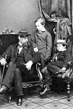 New 5x7 Photo: Tad & Willie with Cousin Lockwood Todd, Sons of Abraham Lincoln