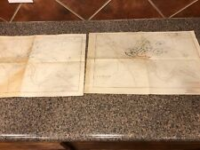 1926 Lot Of 2-Historical Military General Service Schools Maps of Pittsburgh