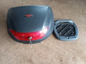 Tech 48 litre Motorcycle top box and anchor plate