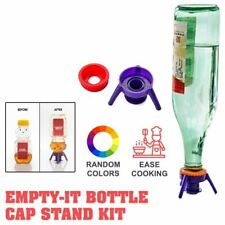 FLIP-IT - Leakproof Inverted Caps Empty-It Bottle Cap Stand Kit