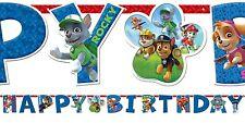 PAW PATROL STRISCIONE FESTONE SNODATO HAPPY BIRTHDAY 1,80 m FESTA PARTY