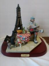 Emmitt Kelly, Jr. April In Paris Figurine With Wooden Stand