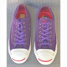 Converse Jack Purcell Purple Sueded Low Top Sneaker Shoes Mens 7.5 and  Womens 9 fb74ea4bc