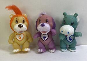 Vintage SOMA Love Pets Lot of 3 Dog Horse Lion 1983 Vinyl PVC Figures