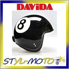 80235 CASCO DAVIDA 80-JET TWO TONE BLACK EIGHT BALL TAGLIA L