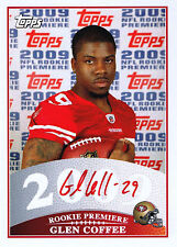 GLEN COFFEE SIGNED 2009 TOPPS ROOKIE PREMIERE CARD RED INK AUTO 49ERS ~U.S. ARMY