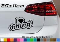 I love drifting 20x11cm Car Auto Deko BMW Aufkleber Tuning Slid JDM OEM Sticker