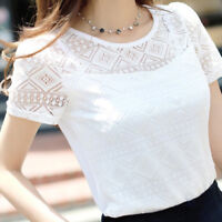Women Korean Chiffon Blouse Lace Shirts Ladies Tops Shirt Blouses Slim Fit Tops
