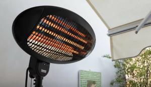 Tressa 2KW Electric Quartz Outdoor Standing Waterproof Garden Patio Heater IPX4