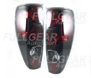BLACK w/ CLEAR LENS ATLEZZA TAIL LIGHT PAIR SET FOR CHEVY COLORADO 2004-2012
