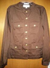 Jones New York Sport Womens Sz L Petite Stretch Jacket Spice Chocolate Brown NEW