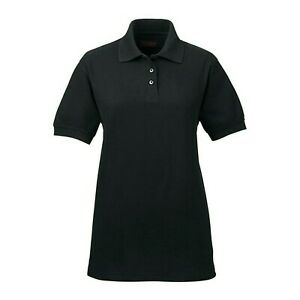 Ultra Club Women's Black Polo Whisper Pique ULTC-8540 Size XL/TG NEW WITH TAGS