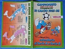CALENDARIO CAMPIONATO ITALIANO CALCIO  1985/86 Serie A - B inserto IL GIORNALINO