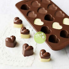 3d heart Silicone Chocolate 15 cavity Mould diy cake decorating sugarcraft mold