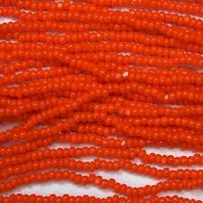 13/0 Orange Charlotte Cut Seed Bead (Hank) #CSS018