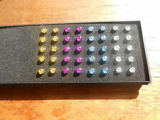 Micro Dermal Anchor Piercing LEOPARDATO vari colori ,impianto corpo, surface 4mm