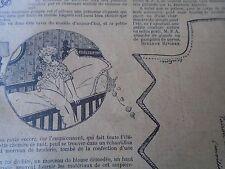 """ANCIEN PATRON POUR LA POUPEE """" BLEUETTE """"CHEMISE DE NUIT AVRIL 1926"""