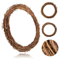 Christmas Wreath Garland Dried Grapevine Wreath DIY Door Wall Decor F