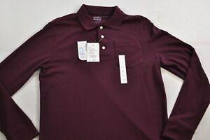 men's Croft & Barrow shirt size XL long sleeve polo wine collar cotton blend