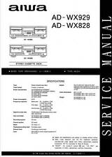 AIWA AD-WX929 AD-WX828 AD WX 929 828 - SERVICE MANUAL - English -