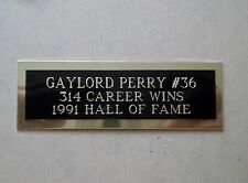 "Gaylord Perry Nameplate For A Baseball Ball Cube Square Or Card Plaque 1"" X 3"""
