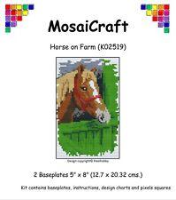 "Mosaicraft Pixel Craft Art Mosaïque Kit ""cheval à la ferme"" pixelhobby"