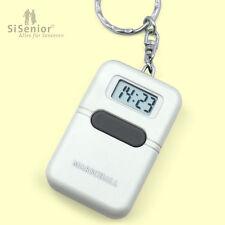 Sprechender Schlüsselanhänger mit Alarmfunktion Uhr mit Sprachausgabe weiß