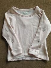 BNWT M&S Indigo Collection Blush Pink Jumper Diamante Trim Sweatshirt 5-6 Years