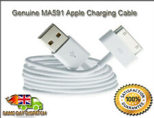 3 X Genuine Apple iPhone 3 3GS 4 4S iPod & iPad 1 2 Charger USB Lead Sync Cable